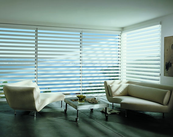 Room with Pirouette shades