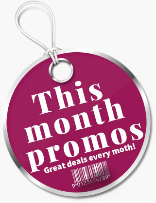 This month promos sales tag
