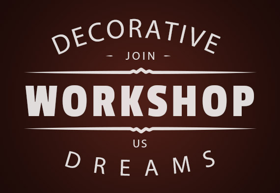 Upcoming workshop in Decorative Dreams in Milton