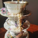 Mother's Day Tea Set Holder & Vintage Plates
